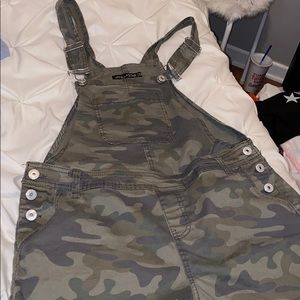 Camo Overall Shorts